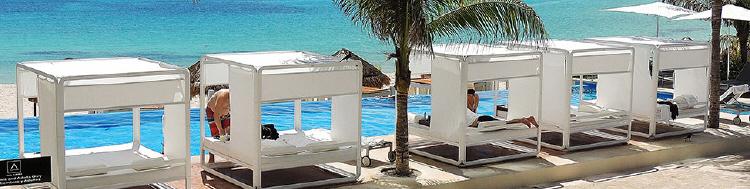 Nowoczesne łóżka ogrodowe Spa Wellness
