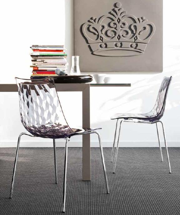 Włoskie Nowoczesne Krzesła Ice Connubia Calligrais Różne Kolory Siedziska