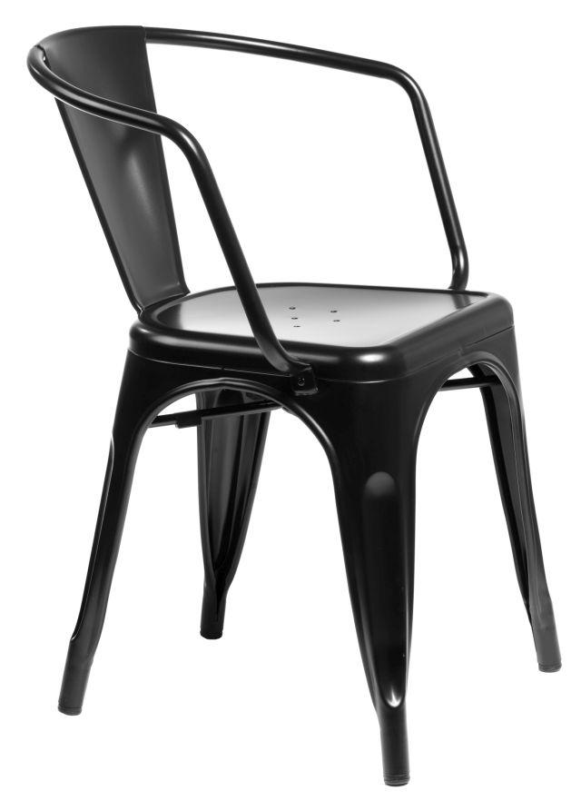 Krzesło insp. PARIS ARMS metalowy - 8 kolorów