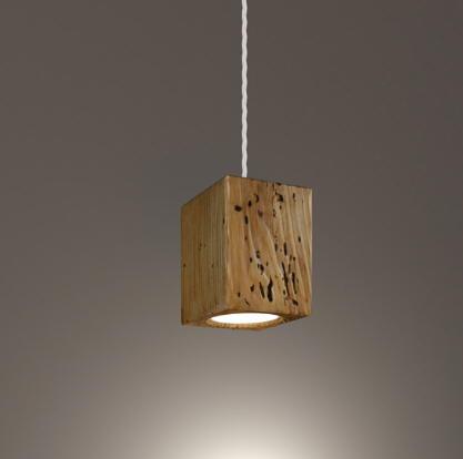 Lampa Wisząca Roof Cube Drewno Salon Gabinet Przedpokój Oryginał Cassol