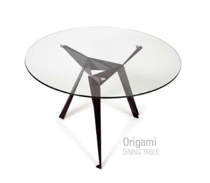 Nowoczesne Okrągłe Stoliki Szklane Origami
