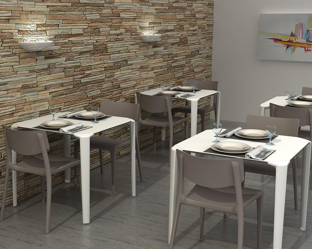 Stoliki One 80x80 Cm Do Domu Ogrodu Kawiarni Restauracji Oryginał Ezpeleta